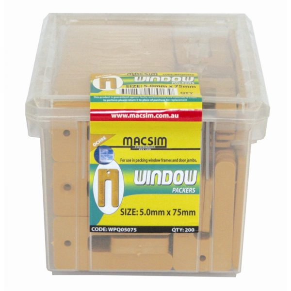 Window packers 5 x 75mm