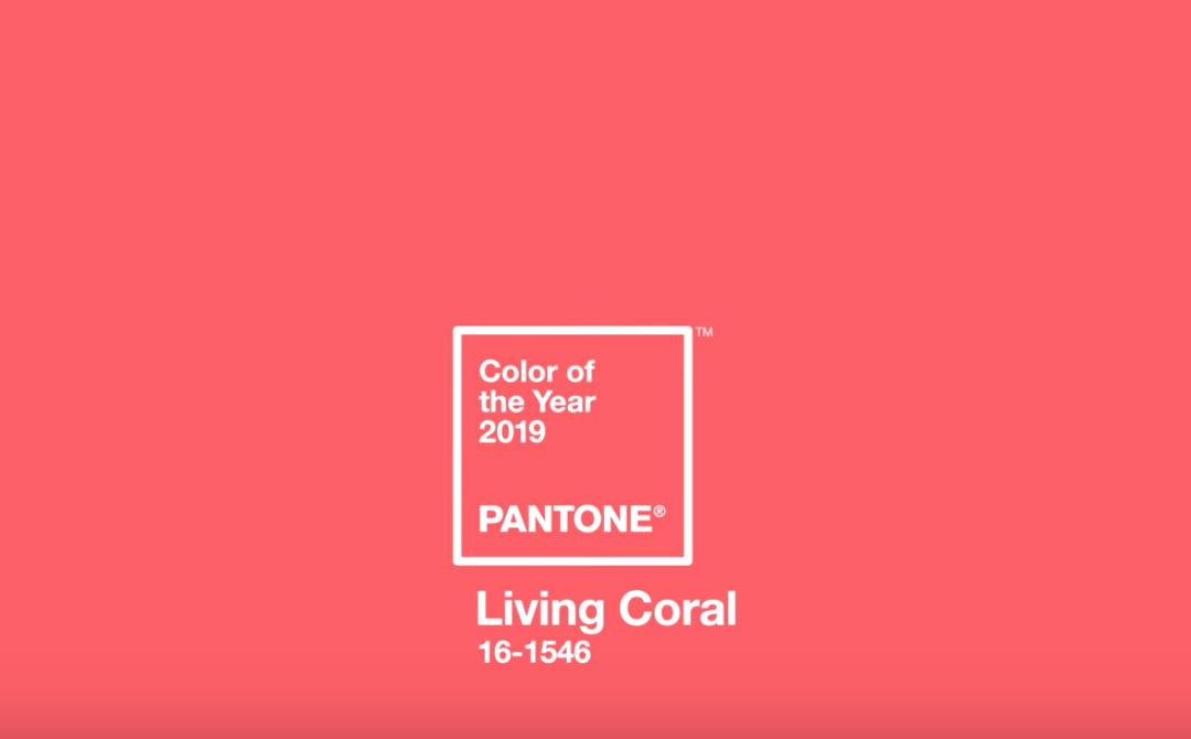 Pantone Colour of the Year 2019- Living Coral